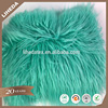 High Quality Seafoam Faux Fake Fur Solid Shaggy Long Pile Plush Fabric For Fur Coat