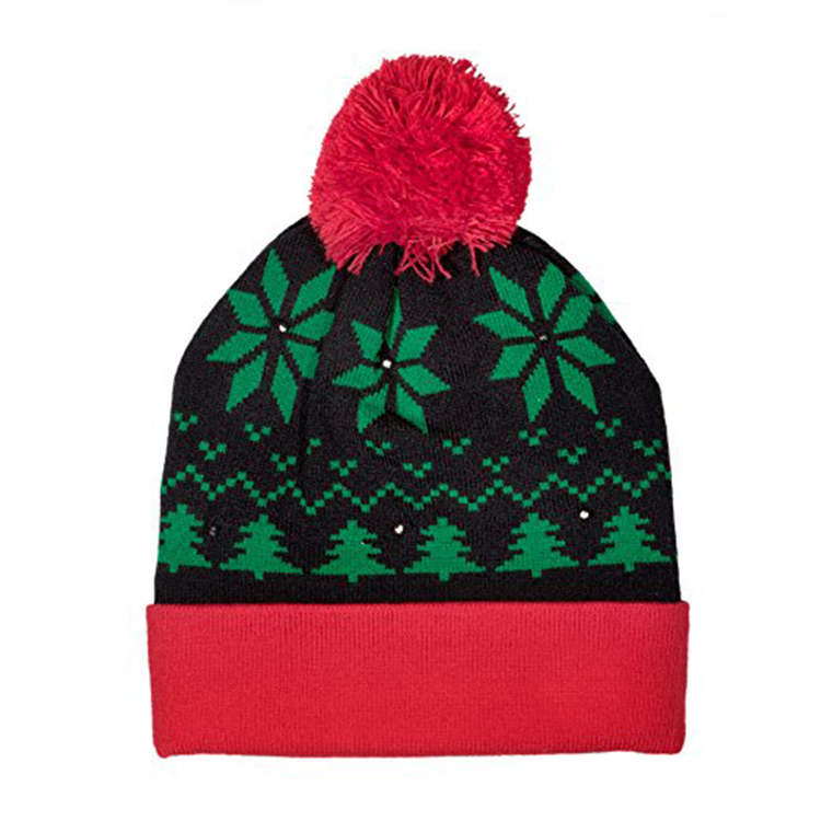 Light Up Ugly Christmas Beanie Hat Knit Cap with 6 Colorful Lights 3  Flashing b8f12e1b3ff