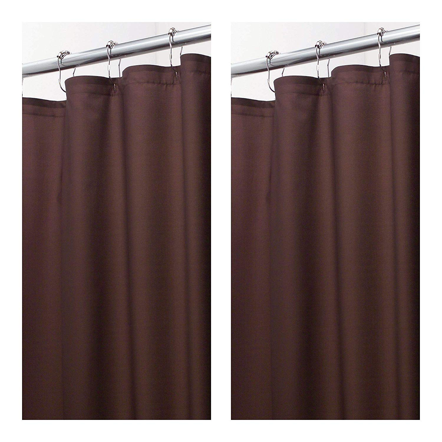 Get Quotations MDesign Extra Wide Water Repellent Mildew Resistant Heavy Duty Flat Weave Fabric Shower Curtain