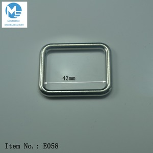 Wholesale metal bag accessories rectangle ring buckle for strap keeper