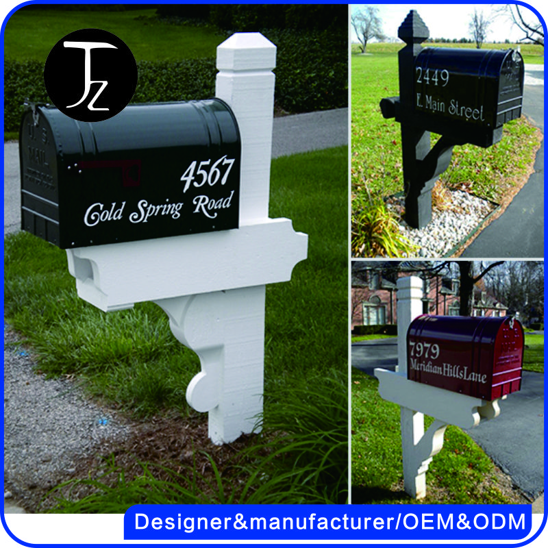 Customized outdoor mailbox modern us mailbox