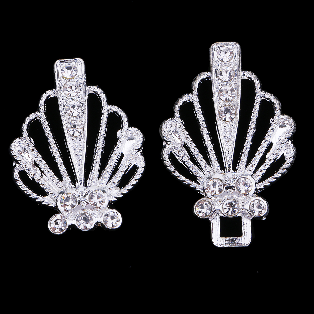 1 Pair Rhinestone Metal Closure Hook /& Eye Clasp Sweater Clothes Decor White