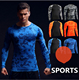NEW Compression Fitness Men Tee Shirt Workout Clothes Camouflage Bodybuilding Wear