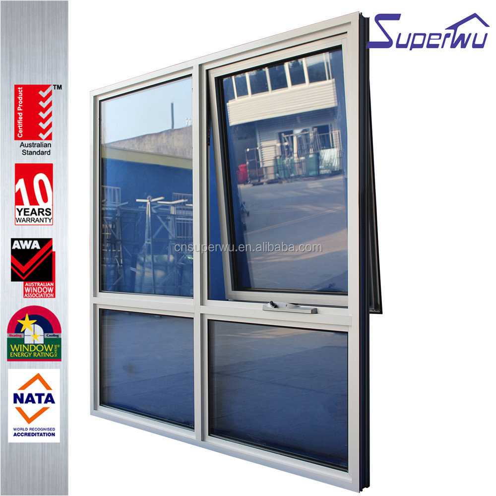 The Newest Design Fashionable push out opening way aluminium Awning Window