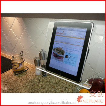 Clear Acrylic Kitchen Ipad Rack / Stand / Holder For All Tablet  Pc\'s,Smartphones And Cookbooks - Buy Kitchen Standing Racks,Cookbook  Holder,Ipad Rack ...