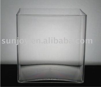 Clear Plastic Vase Acrylic Cube