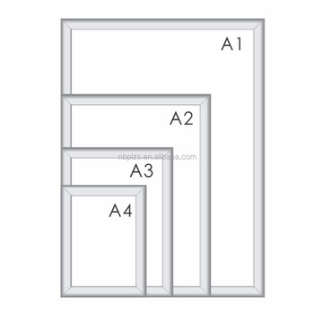 Graphic Easy Change Aluminum A1. A2. A3. A4 Sign Clip Snap Frame B2 ...