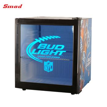 Clear Glass Door Refrigerator Table Top Refrigerator Custom Beer Mini Fridge