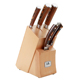Classical 5PCS germany kitchen wood handle knife set with kinfe block