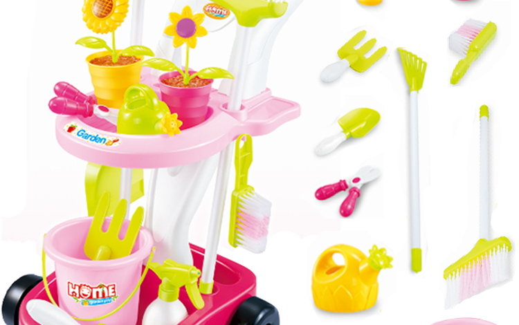 Kids Garden Household Cleaning Tool Set Toy Pretend Play Toy