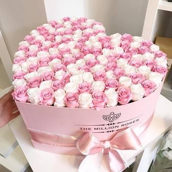 Flower Rose Package Fresh Preserved Flower Paper Box For Flowers