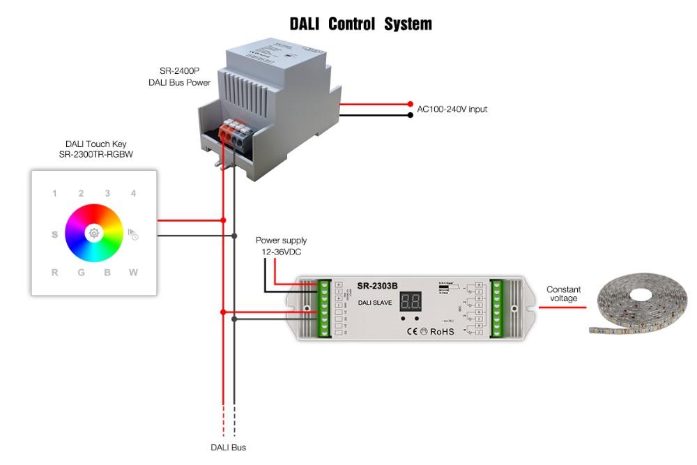sunricher dali power supply dali bus dali driver power