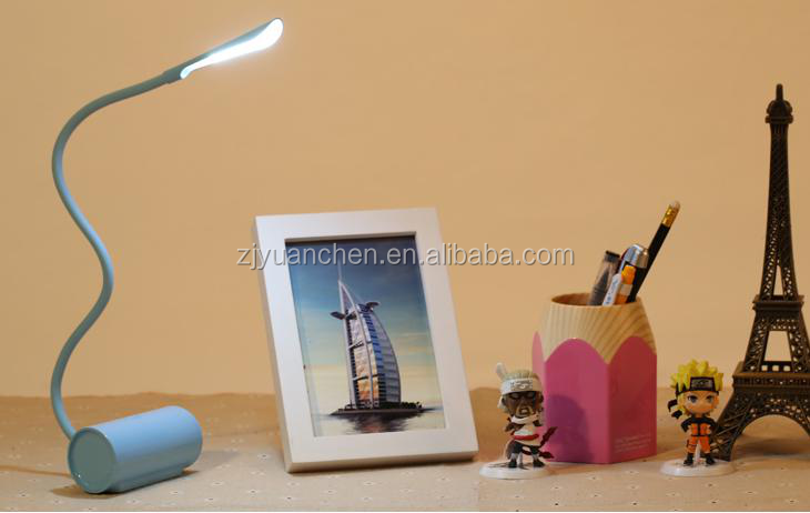 Flexible USB rechargeable Table Lamp Touch Sensor Desk Lamp portable Study Lamp