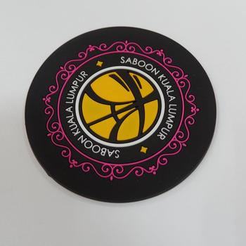 custom logo rubber coaster cheap beer drink mat for promotional
