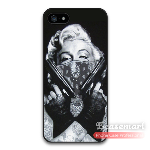 Marylin Monroe Double Guns Case For iPhone 6 6 Plus Also Support For 5 5s 5c iPod 5 Support Wholesale Retail To Global