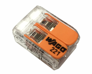 Wago221-412 original authentic spot 2 bit plug-in type 4 square transparent terminal block connector quick plug
