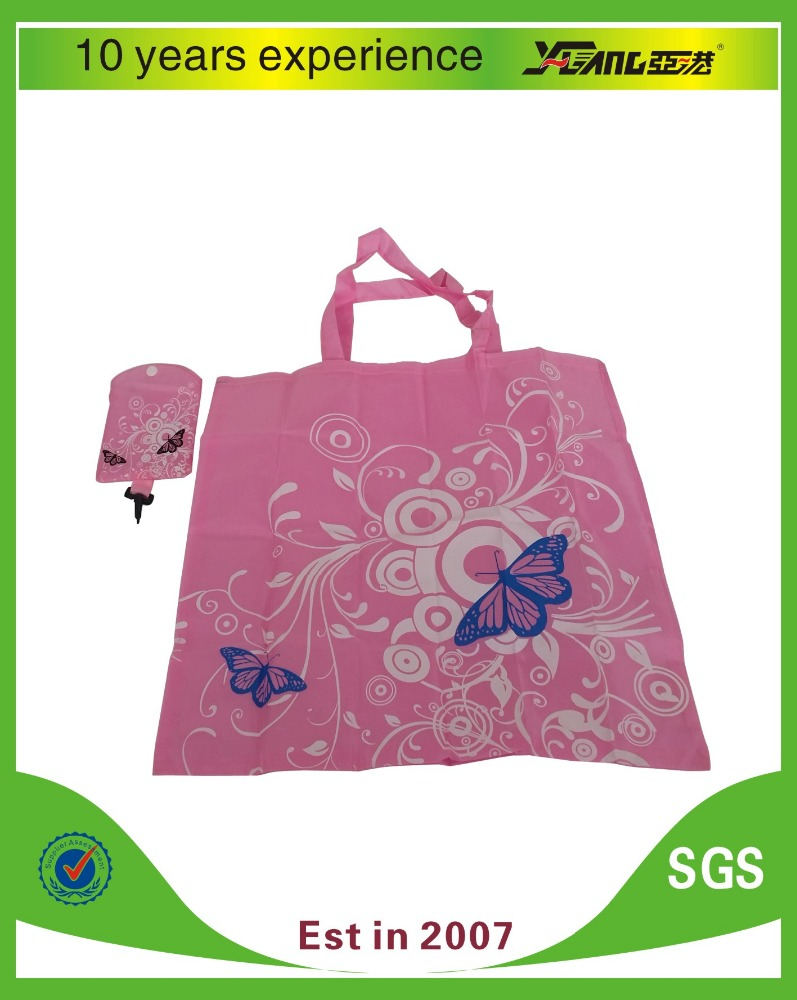 Hot selling reusable polyester folding shopping bag