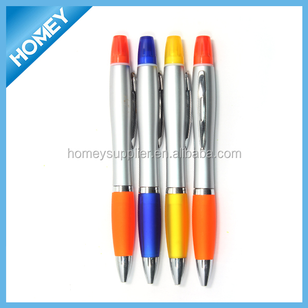 Different Color double-end ball point pen