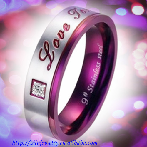 """Love forever"" Rose gold with Cz 316 stainless steel beautiful finger ring"
