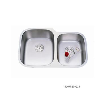 Undermount Stainless Steel Sink Standard Philippines Kitchen Satin Double Drainboard Sinks