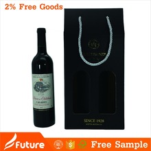 Red wine strength corrugated board printed paper box with window