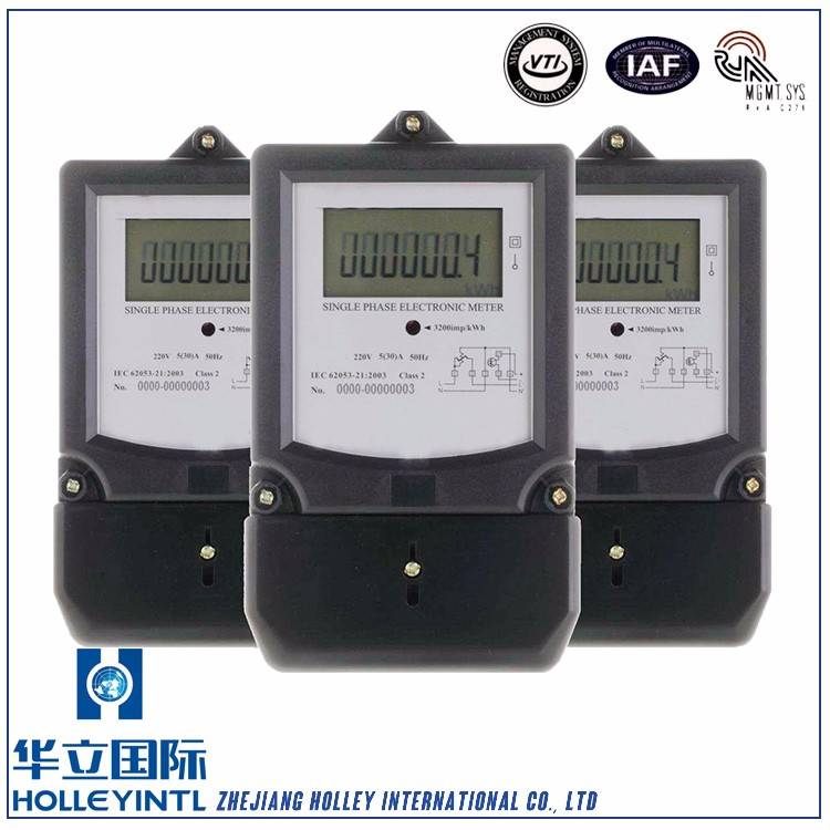Optional transparent top cover and terminal cover Electronic Single Phase Multi Rate Energy Meter