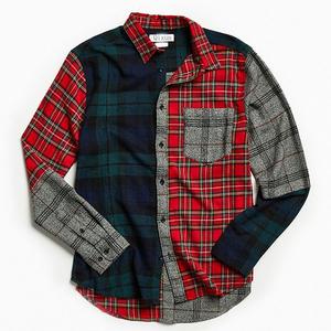 Plaid flannel button-down shirts