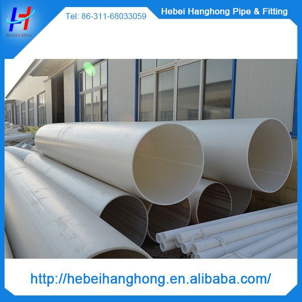 250mm Clear Pvc Pipe And Fittings Large Diameter Pvc Pipe