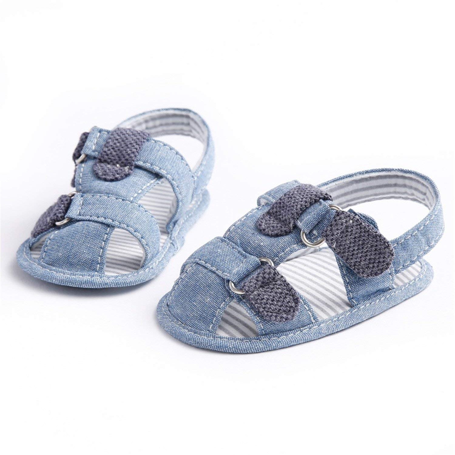 92ff79cde683f Get Quotations · Welcometoo New Summer Kids Shoes Denim Closed Toe Toddler  Boys Girls Sandals Orthopedic Sport Baby Sandals