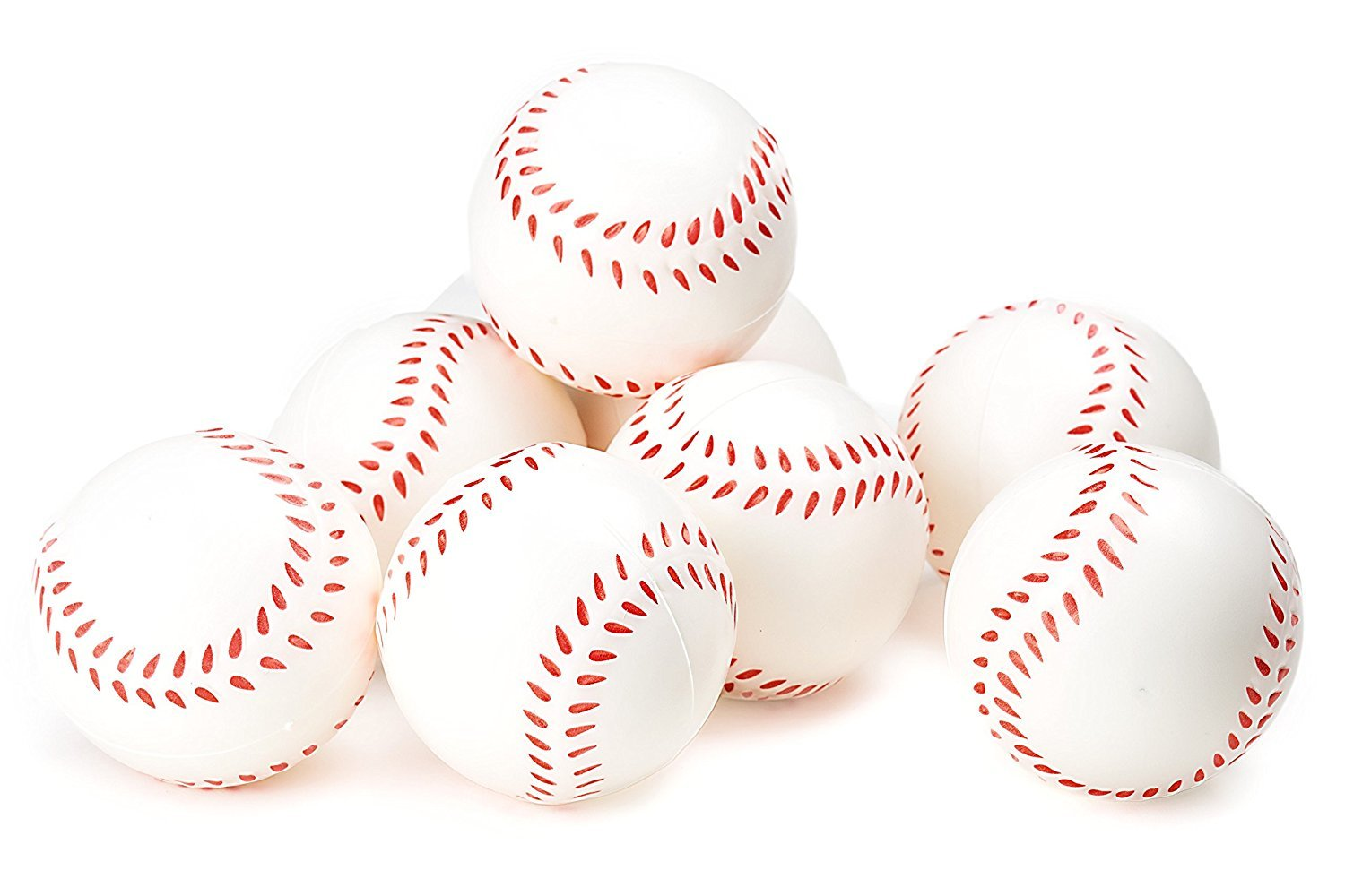 Baseball stress ball Sports Themed 2.5-Inch Foam Squeeze Balls for Stress Relief, Relaxable Realistic Baseball Sport Balls - Bulk 1 Dozen by B.N.D