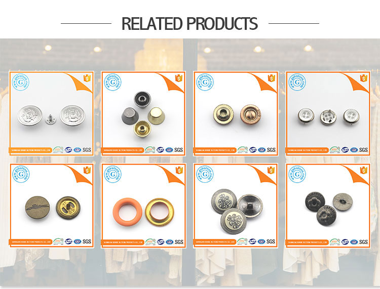 Hot Sale custom clothing brass prong snap fastener buttons shirts for