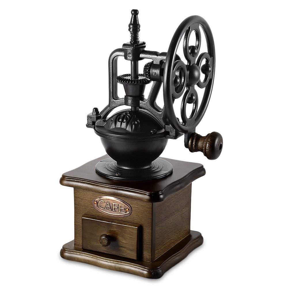 Perfectii Manual Coffee Grinder, Retro Burr Coffee Grinder Hand Grinding Machine Hand-crank Roller With Ceramic Burr