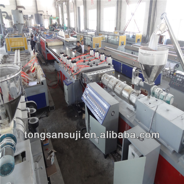 wood plastic wpc foam board machine line