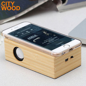 bamboo mini portable induction speaker