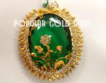 22k gold pendant with green colour stone buy new design gold 22k gold pendant with green colour stone aloadofball Images