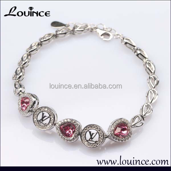 925 Sterling Silver Ruby Chain Bracelet Designs For Woman,Ruby ...