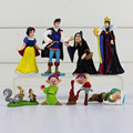 8Pcs Set Princess Snow White And The Seven Dwarfs Queen Prince PVC Figure Toys Dolls 4