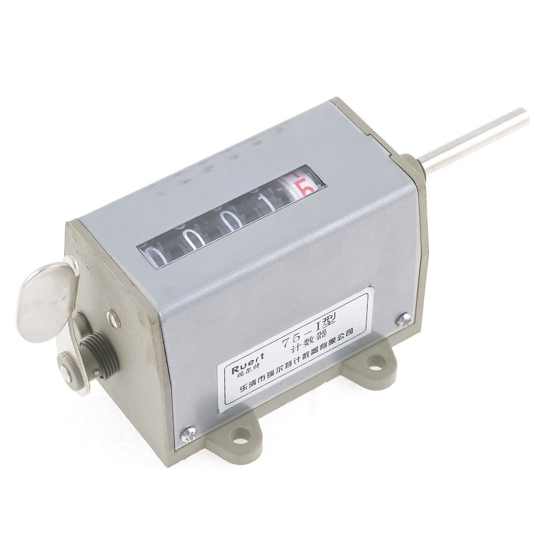 GUWANJI Gray Mechanical 5 Digits Stroke Totalizing Counter 75-I