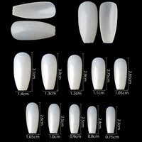 2018 new design 600Pcs Nail art design Oval Full Cover Artificial False Coffin Ballet Nail Tips