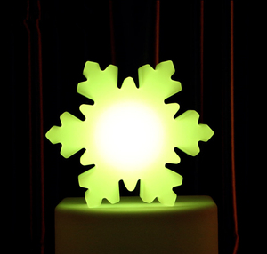 Fashionable snow flower shaped led table lamp with remote control