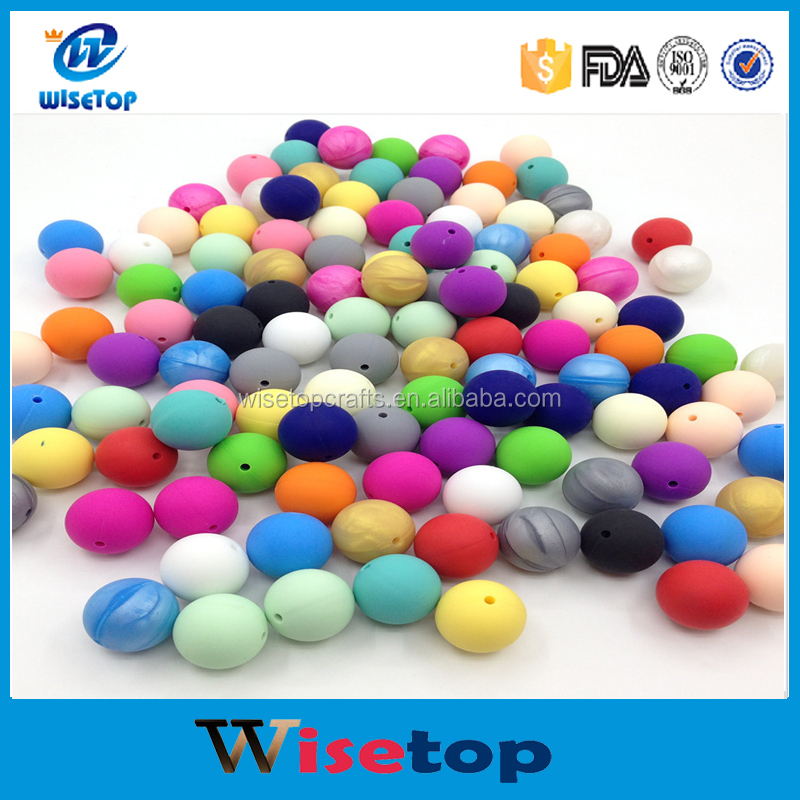 BPA Free Food Grade Silicone Teething Beads 20mm Round Loose Beads Baby Safe Chewing diy Necklace beads wholesale