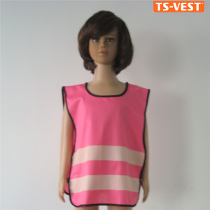 China Pink ANSI EL Kids reflective Safety Vest