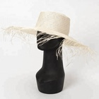 Fancy Women Summer Sisal Straw Boater Hat Sun Hat for Beach Vacation