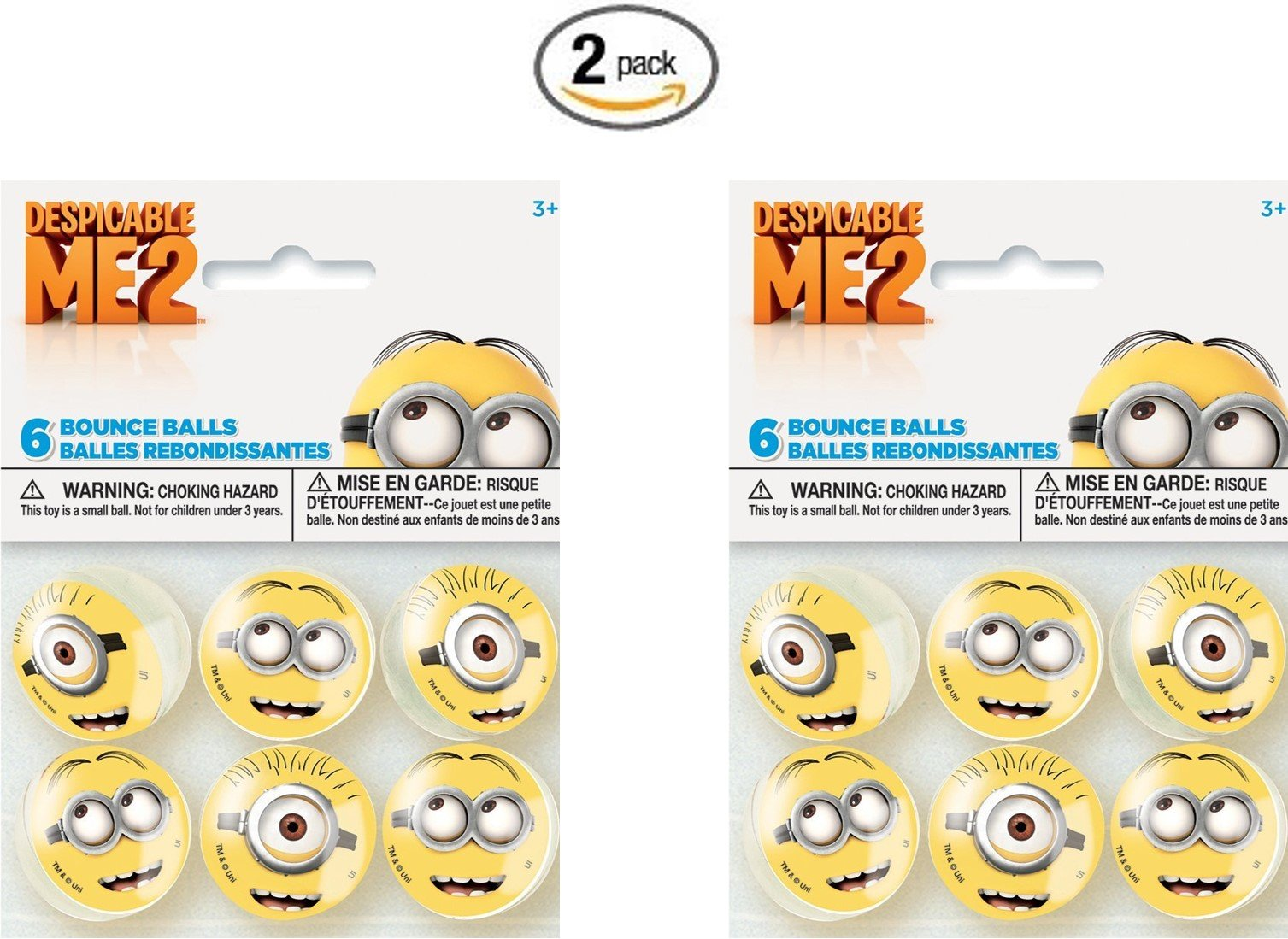 Despicable Me Bounce Balls Favors, 6ct (2 pack)