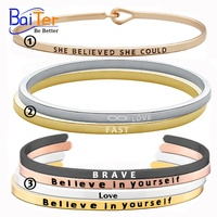 Personalize Stainless Steel Custom Engraved Cuff Bangle Bracelet Wholesale/Engraved Bracelet Jewelry For Man&Women