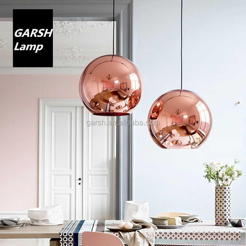 Modern Copper Ring Led Pendant Lighting 10758 Shipping: Modern Copper Glass Pendant Lighting Chrome Gold Color