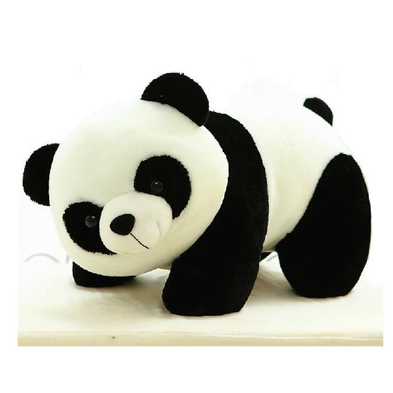38cm/15'' New Cute Simulation panda doll Stuffed plush toys toy Kawaii pandas soft anime white and black gifts for children
