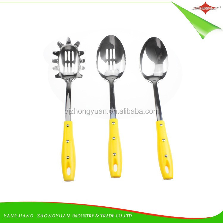 ZY-A1124 3pcs good quality stainless steel kitchen utensil set pp handle stianless steel cooking utensils