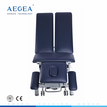 AG-ECC19 Split leg clinic electric antique medical mulit-postion patient examination couch bed table with pillow hospital used