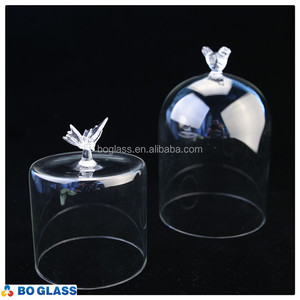 bell jar * cover * cake * flower clear glass dome with base /glass & metal & wooden base with decorative mini glass dome